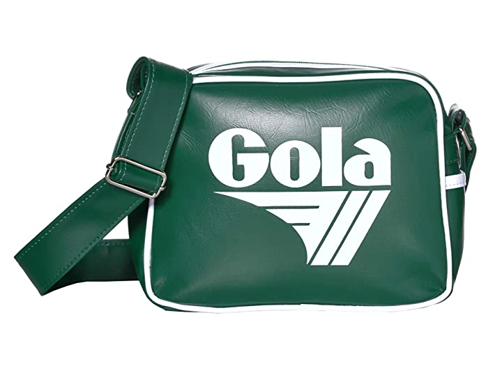 70s Workout Clothes | 80s Tracksuits, Running Shorts, Leotards Gola Micro Redford Bottle GreenWhite Messenger Bags $20.25 AT vintagedancer.com
