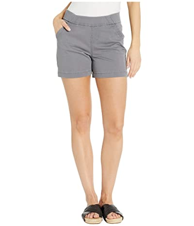 Jag Jeans 5 Gracie Pull-On Shorts in Twill (Grey Streak) Women