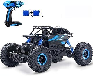 SZJJX RC Voiture Télécommande de Course 4WD Jouets pour Enfants 2.4Ghz Tout Terrain Rapide Rock Crawler 1:18 Camion Buggy ...