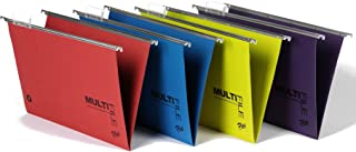 Rexel Multifile Plus 15mm Foolscap Suspension File - Assorted Colours (Pack of 10)