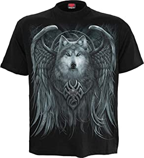 Mens - Wolf Spirit - T-Shirt Black