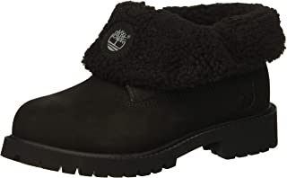 Timberland Icon Collection Roll-top with Fleece Fashion Boot Black Nubuck 12.5 Medium US Little Kid