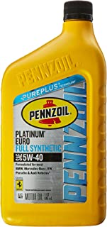 Pennzoil Platinum Euro Full Synthetic 5W-40 Motor Oil (1-Quart, Single-Pack)