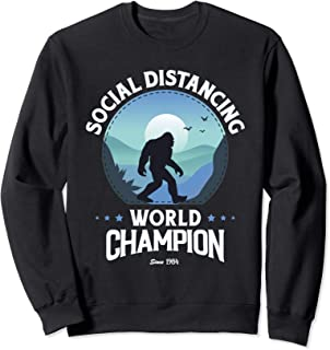 Champion du Monde Distancing Drôle Bigfoot Sweatshirt