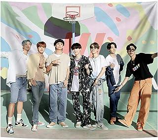 BTS Tapestry Korean Idol Bangtan پسران پسر پس زمینه آویزان برای اتاق نشیمن دکور خواب اتاق خواب