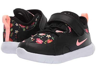 Nike Kids Flex Contact (Infant/Toddler) (Black/Pink Tint) Girls Shoes