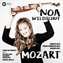 Mozart: Sonata 454, Violin Concerto No. 5, Adagio in E KV 261