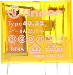 Finder 40.52.8.120.0000 2-Pole 8-Amp 250V Miniature PCB Plug-In Relay
