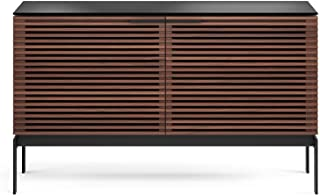 BDI Corridor SV Slim Double-Width TV Stand & Console, Chocolate Stained Walnut