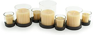 Danya B. Bubbles Multiple Candle Holder for Pillar and Votive Candles- Black