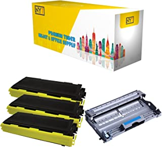 New York Toner New Compatible 4 Pack High Yield Toner & Drum for Brother TN350 DR350 - MFC MultiFunction Printers: MFC-7220 | MFC-7225N | MFC-7420 | MFC-7820D | MFC-7820N .--Black