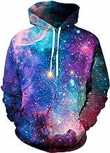 Imagine Women Men Autumn Galaxy Unicorn Cat Flower 3D Digital Print Long Sleeve Pullover Hoodie Hooded Sweatshirt Jacket