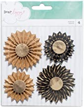 American Crafts 340206 4 Piece Dear Lizzy Documentary Gold Foil Kraft and Chalkboard Delights