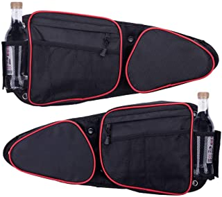 Lesiyou Side Door Bags for RZR with Removable Knee Pad, Front Door Side Storage Bag for Polaris RZR XP, XP4, Turbo, Turbo S, S 900, S 1000, 2014-2020