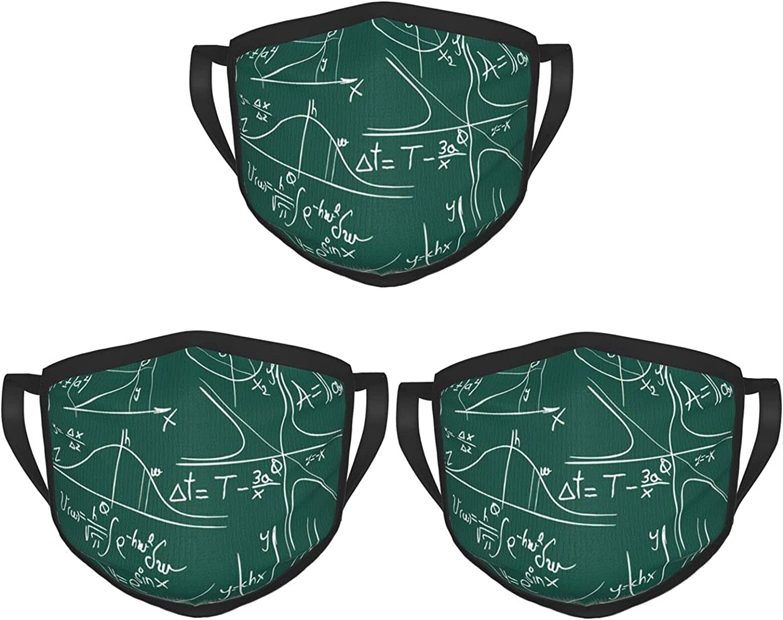 Balaclava Earmuffs Funny Mathematical Formula Equation Face Mouth Cover Mask Reusable Washable Scarf Towel Cover Headwrap
