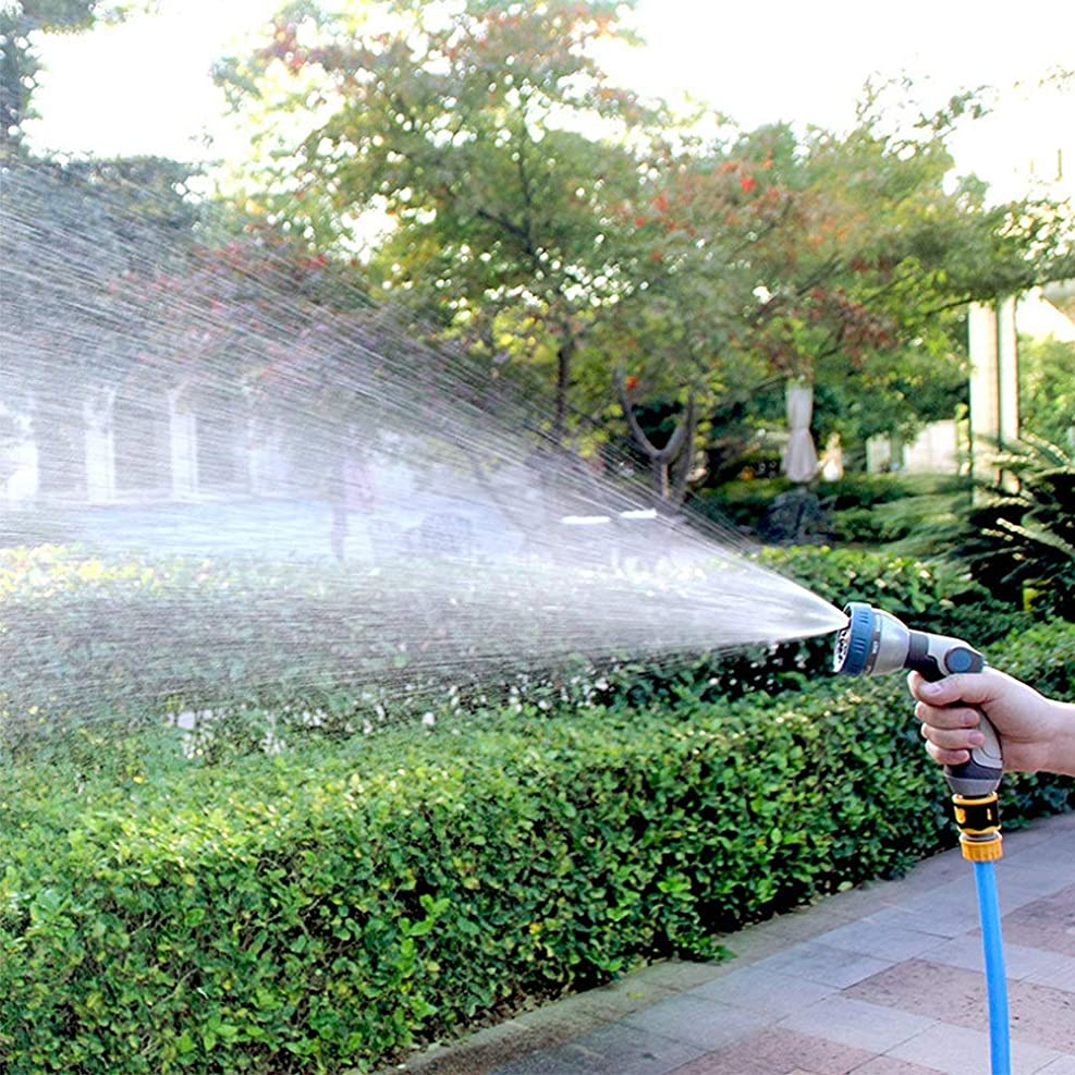 分類する接地優雅な手作り 洗濯じょうろ親指コントロール8つのパターン家庭用灌漑の高圧力水スプレー芝生ポータブルカークリーニングツール 耐久性