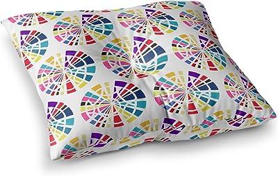 Kess InHouse Famenxt Boho Tribe Mandala Beige Black Round Floor Pillow 26