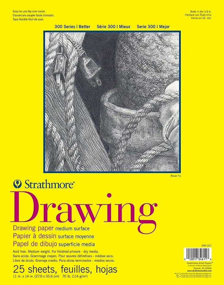 Strathmore 300 Series Drawing Pad, Medium Surface, 11