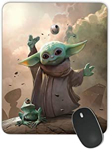 Baby Yoda Mouse Pad, Personalized Design Rectangular Computer Mouse Pad, Office Non-Slip Gaming Mouse Pad