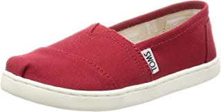 TOMS Kids Unisex Alpargata 2.0 (Little Kid/Big Kid) Red Canvas 12 M