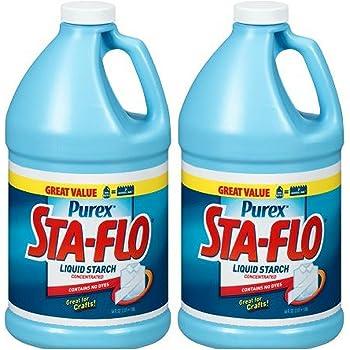 Purex Sta-Flo Concentrated Liquid Starch, 64 fl. oz. Plastic Jug (Pack of 2)