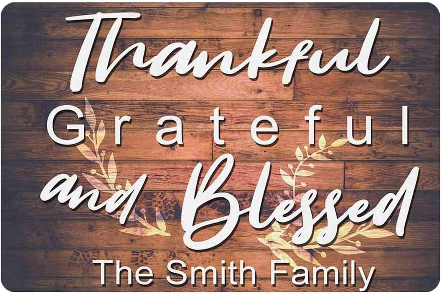 Popular popular Thankful Grateful and Blessed Sign Decor Personalized San Francisco Mall Metal Wood