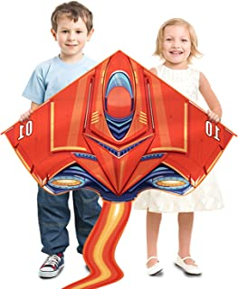 ZiWing Delta Kites - Plane Kite for Kids Outside Easy to Fly - Best Summer Outdoor Beach Park Toys Birthday Holiday Gift for Kids Toddlers Boys Age 3 Years and Up,Kite Handle with String Include