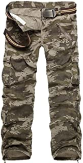 Zhi Fan Men's Tactical Military Multi-Pockets Overalls Loose Style Trousers Pants