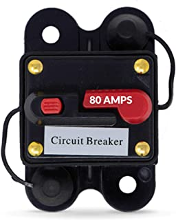 Five Oceans 80 Amp Anchor Windlass Circuit Breaker w/Manual Reset Button, 12V FO-3294