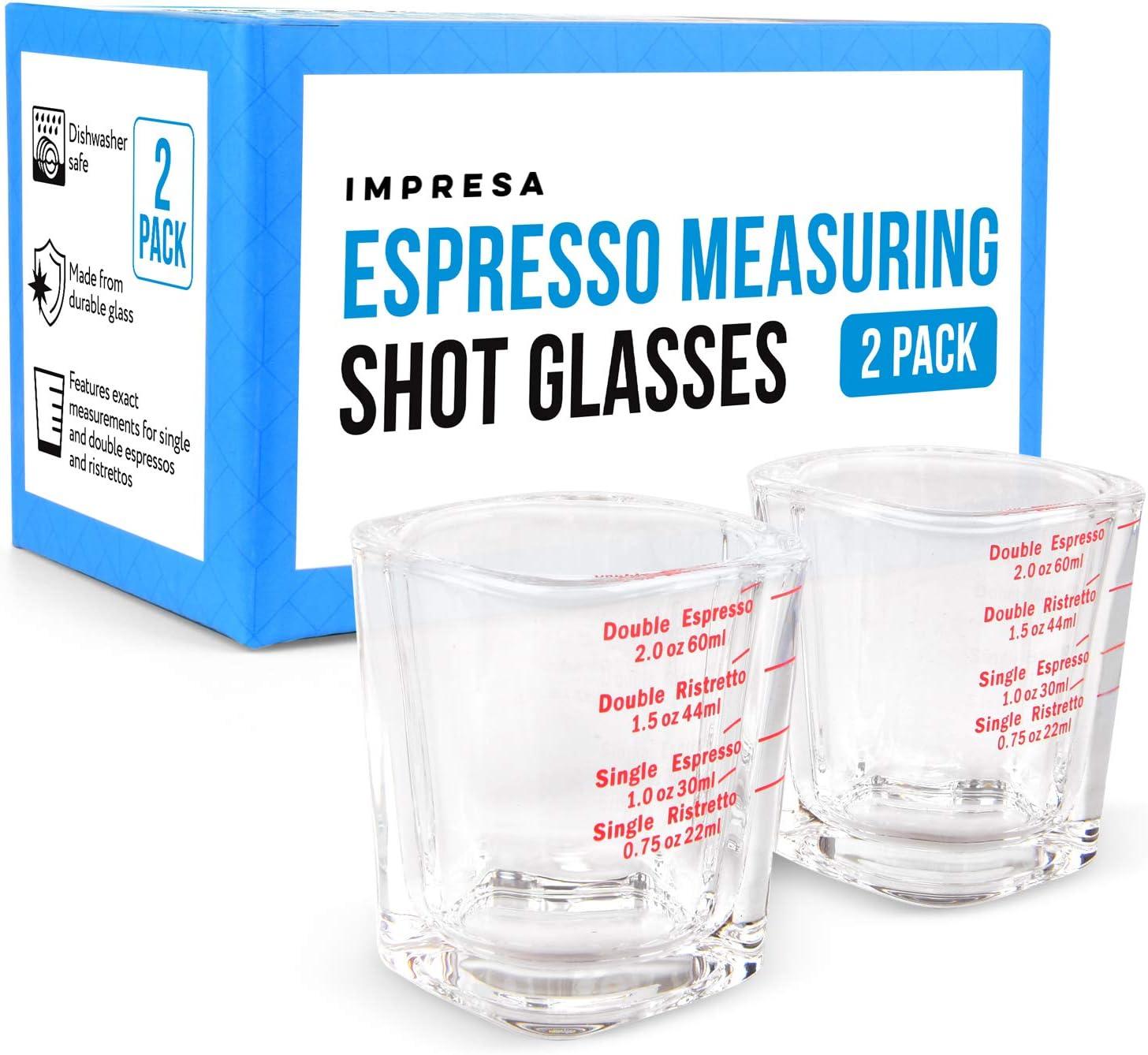 2 Pack Excellent online shop Espresso Measuring Shot Glasses Home for Baristas Us or