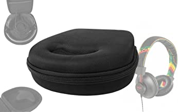 DURAGADGET Black Headphone Case - Suitable for House of Marley TTR| Rise Up| Stir It Up| Redemption Song| Riddim| Exodus| Liberate| Buffalo Soldier| Revolution| Rebel| Positive Vibration & Harambe