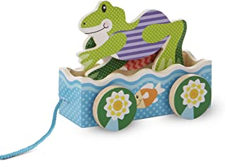 Melissa & Doug 13615 First Play Friendly Frogs Wooden Pull Toy, Multi-Colour