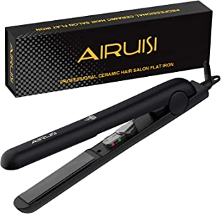 AIRUISI Flat Iron, Professional Hair Straightener, 140°F~450°F Adjustable for All Hair Types, Safety Lock & Dual Voltage Perfect for Travel, 1 inch Ceramic Plates Makes Hair Shiny and Silky.