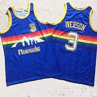 Hombres Allen Iverson Ezail # 3 Camiseta de Baloncesto Retro, Denver Nuggets Temporada Uniforme, NBA sin Mangas Unisex, S -XXL