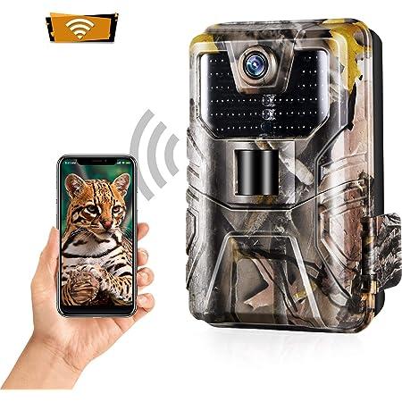 NZYMD Wildkamera 5MP 1080P /Überwachungskamera Spiel Wildlife Pfadfinder Trail Tier Digitale Kamera Bewegungserkennung Wasserdicht mit Nachtsicht.