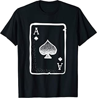 Ace of Spades Poker Playing Card Halloween Costume T-Shirt
