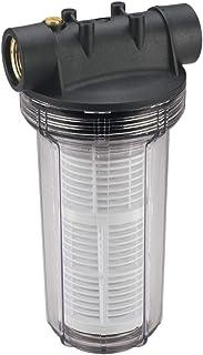 Einhell Filtre Anti-sable pour pompe à eau, avec cartouche (filetage laiton, 2 raccords de connexion R1), Rouge, 25 cm