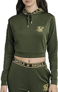 Sudadera Siksilk negra con capucha de leopardo para mujer