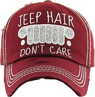 8d4c880d8ee87 Funky Junque Womens Baseball Cap Distressed Vintage Unconstructed  Embroidered Dad Hat