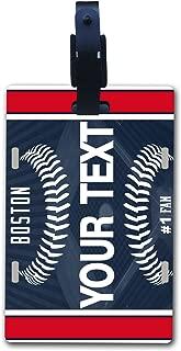 BRGiftShop Customize Your Own Baseball Team Boston Luggage Tag