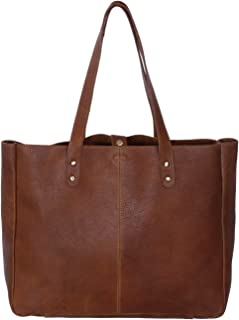 leather tote with magnetic closure