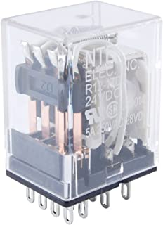 NTE Electronics R14-5A15-120 Series R14 General Purpose AC Relay, 5PDT Contact Arrangement, 15 Amp, 120 VAC