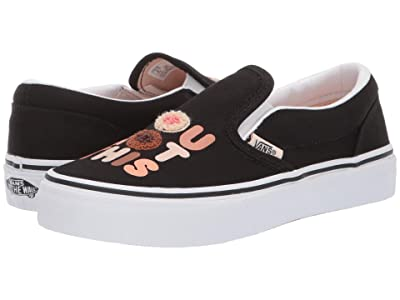 Vans Kids Vans x Breast Cancer Awareness Classic Slip-On (Little Kid/Big Kid) ((Breast Cancer) You Got This/True White) Girls Shoes