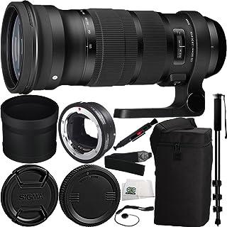 Sigma 120–300mm f / 2.8DG OS HSMレンズfor Canon & MC - 11マウントコンバータ/レンズアダプタ(Canon EF - Sレンズto Sony E) 9個入りバンドルIncludesメーカーアクセサリー+ Heavy Duty一脚自撮りスティック+ More