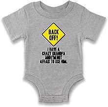 Back Off I Have A Crazy Grandpa Warning Funny Infant Baby Boy Girl Bodysuit