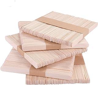 KATELUO 250 st trähantverkspinnar, klubbpinnar, slickepinnar, för is eller kaka pops och barnhantverksmodeller
