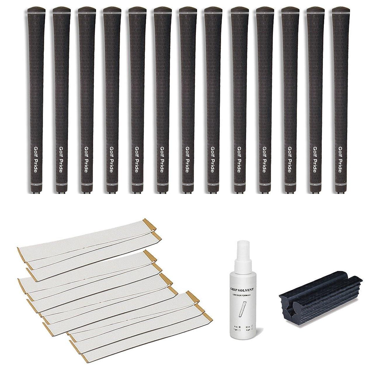 ネックレットしっとり雑品ゴルフプライドツアーベルベットUndersize 0.580リブ編みグリップキット(13-piece)