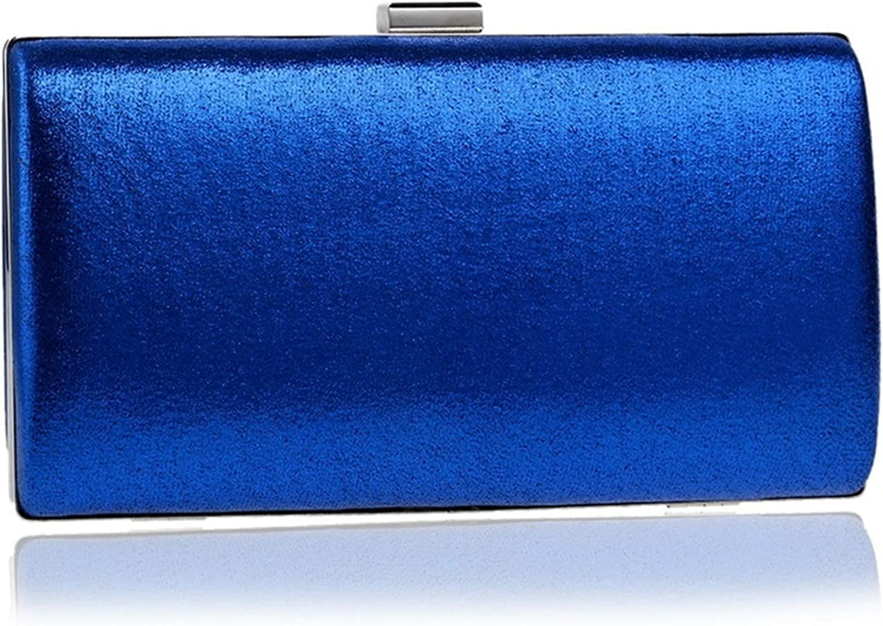 Evening Bag Clutch Bags Women Handbags Party Evening Bag Banquet Imitate Diamond Shoulder Bag Wedding Wallet (Color : Blue, Size : Small)