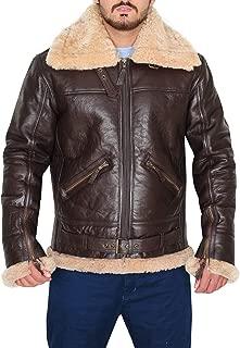 Tom Hardy B3 Bomber Aviator Fur Real Leather Jacket