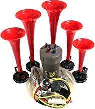 Dixie Air Horn - Dixieland Premium Full 12 Note Version with Installation Wire Kit and Button (Red)